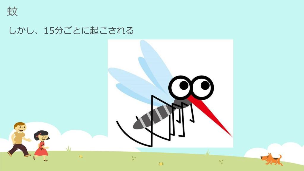 蚊 しかし、15分ごとに起こされる