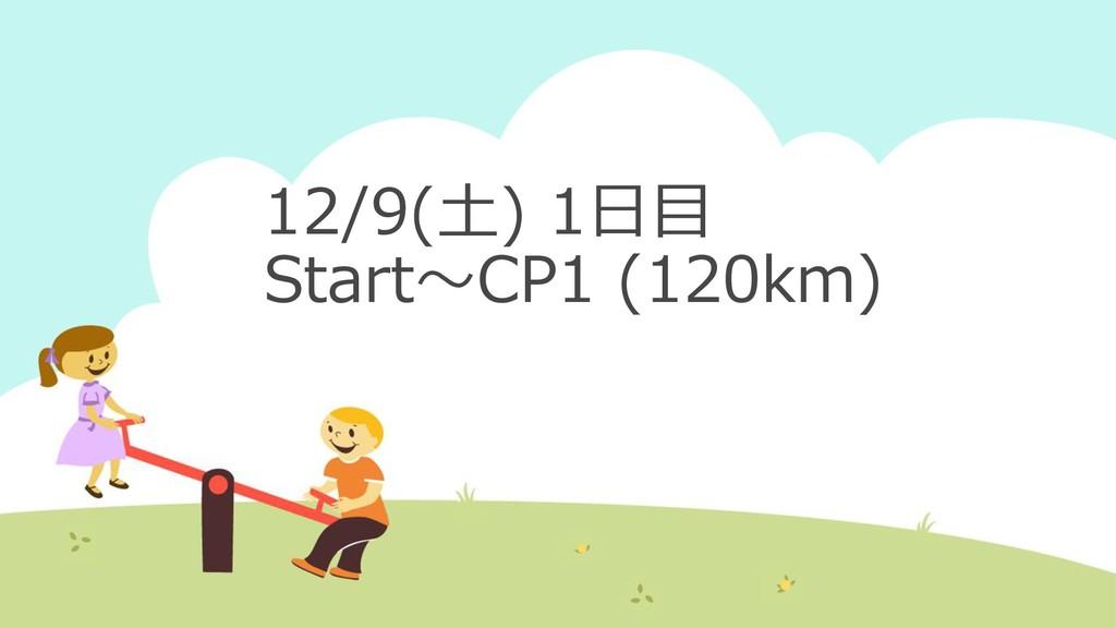 12/9(土) 1日目 Start~CP1 (120km)