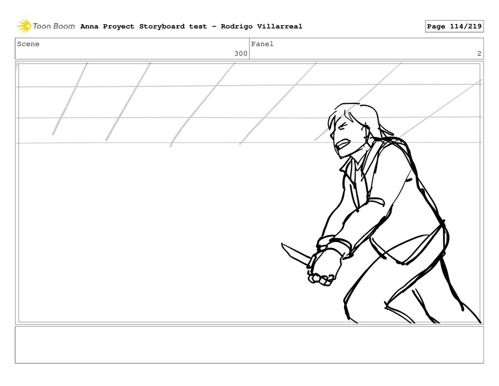 Scene 300 Panel 2 Anna Proyect Storyboard test ...