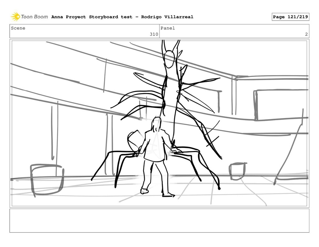 Scene 310 Panel 2 Anna Proyect Storyboard test ...