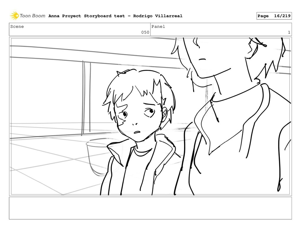 Scene 050 Panel 1 Anna Proyect Storyboard test ...