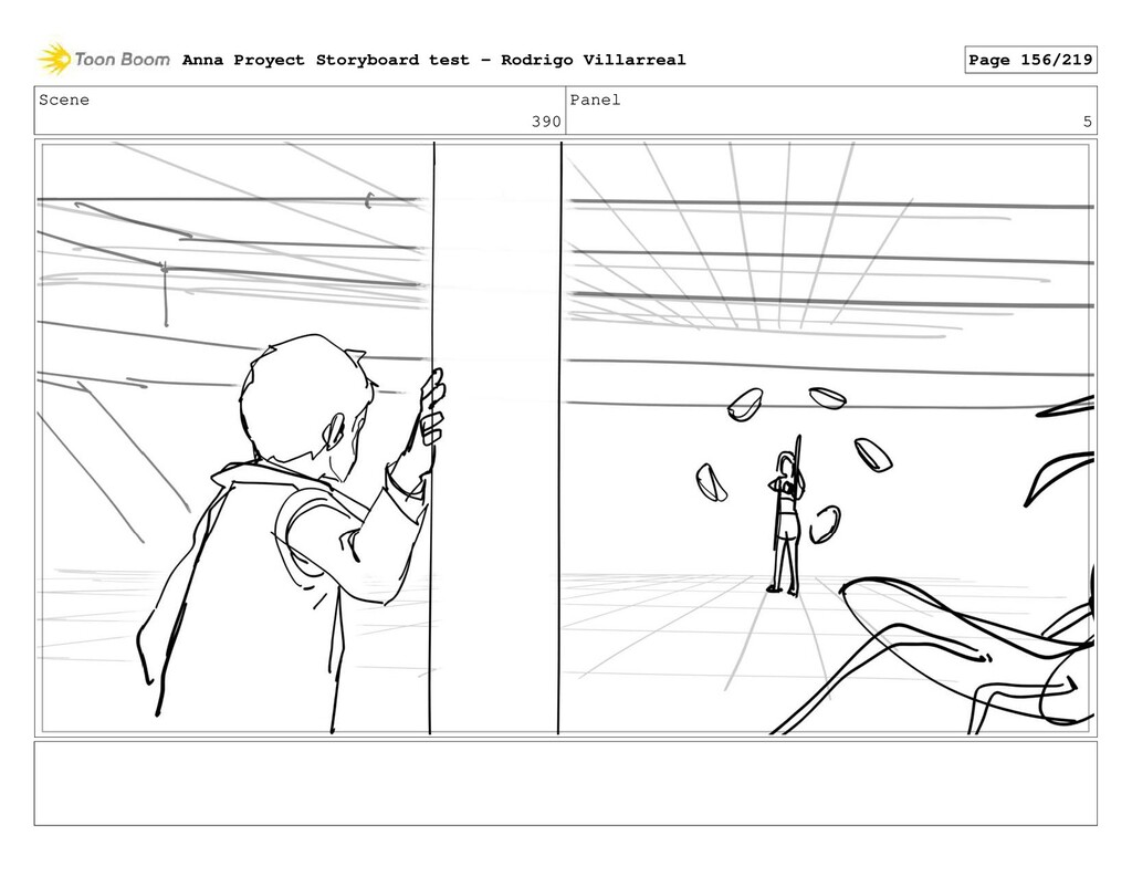 Scene 390 Panel 5 Anna Proyect Storyboard test ...