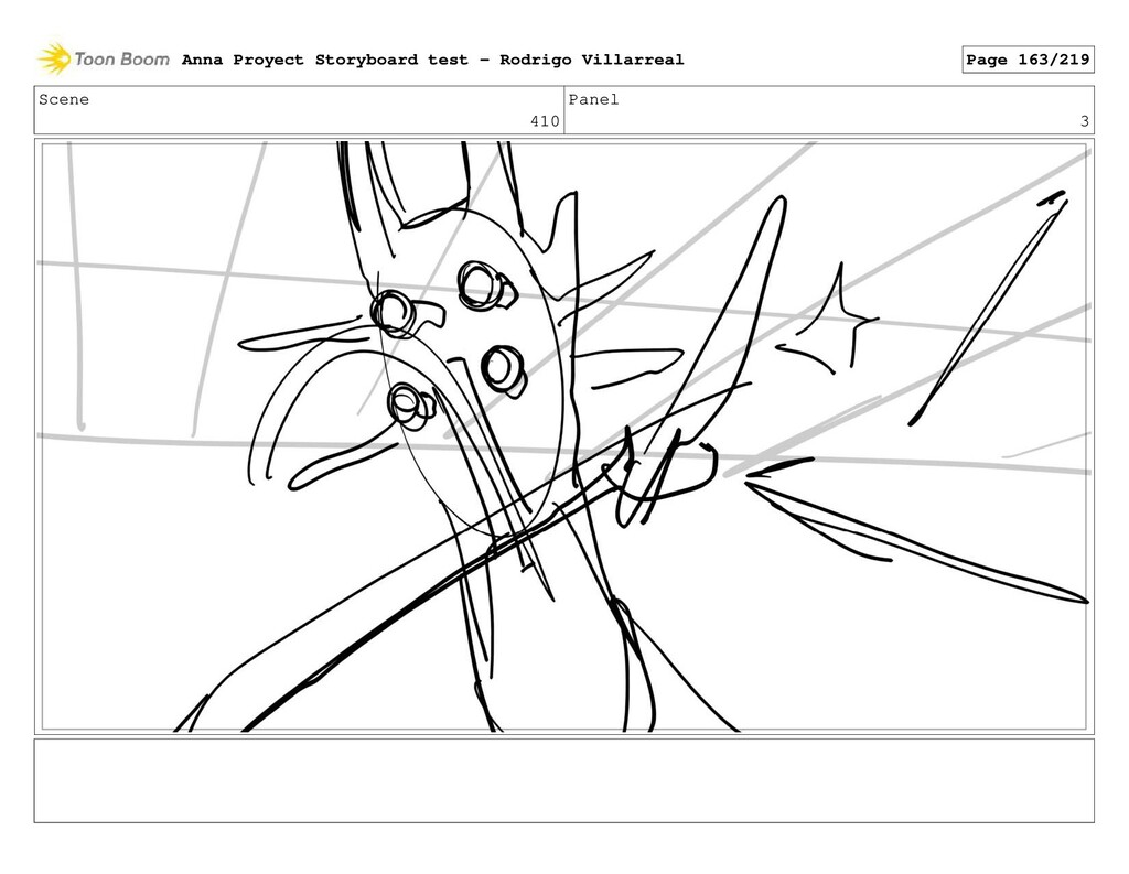 Scene 410 Panel 3 Anna Proyect Storyboard test ...
