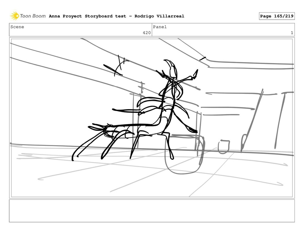Scene 420 Panel 1 Anna Proyect Storyboard test ...