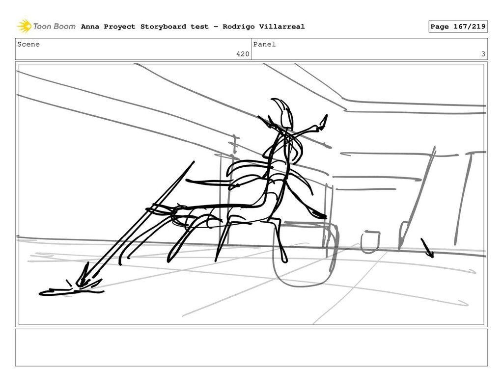 Scene 420 Panel 3 Anna Proyect Storyboard test ...