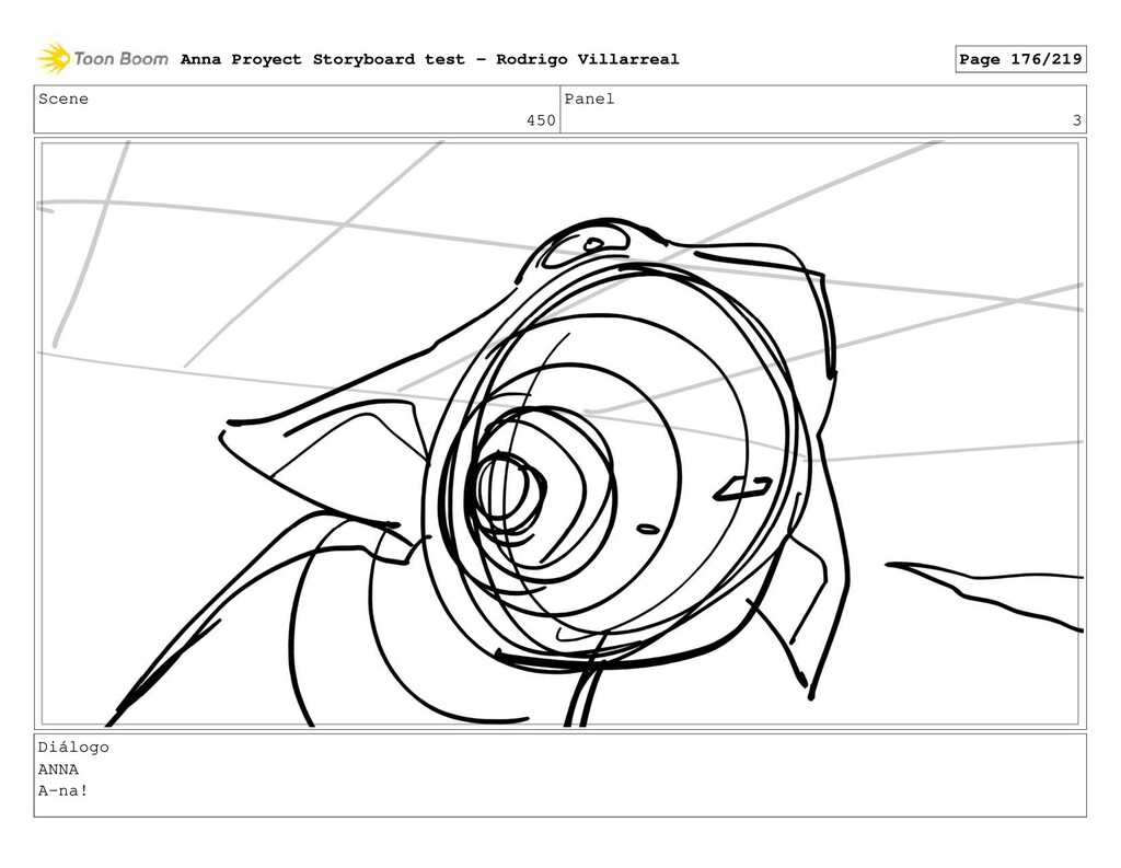 Scene 450 Panel 3 Diálogo ANNA A-na! Anna Proye...