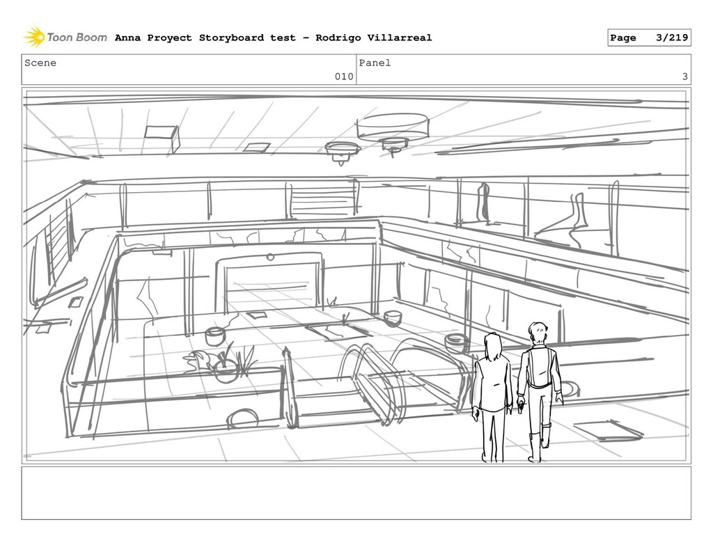 Scene 010 Panel 3 Anna Proyect Storyboard test ...