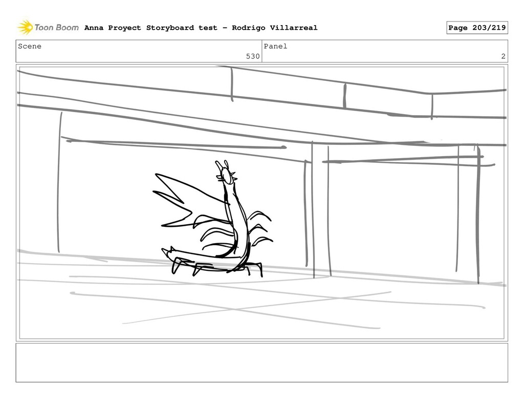 Scene 530 Panel 2 Anna Proyect Storyboard test ...