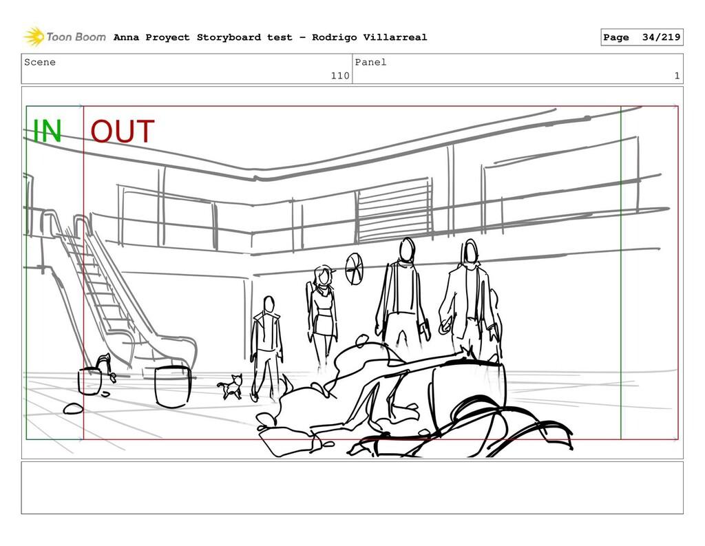 Scene 110 Panel 1 Anna Proyect Storyboard test ...