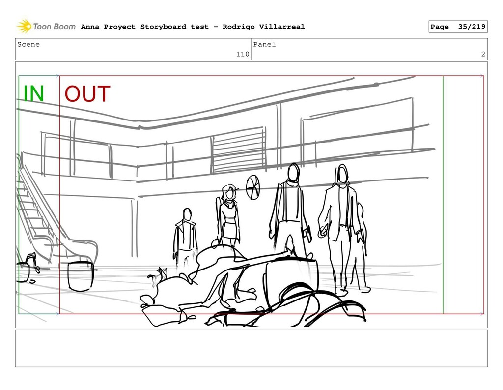 Scene 110 Panel 2 Anna Proyect Storyboard test ...