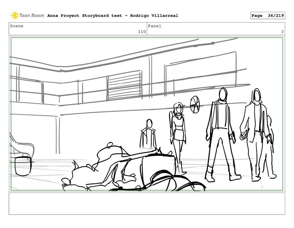 Scene 110 Panel 3 Anna Proyect Storyboard test ...