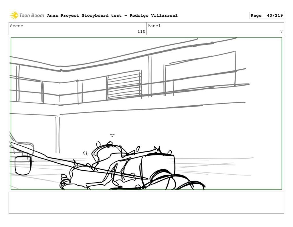 Scene 110 Panel 7 Anna Proyect Storyboard test ...