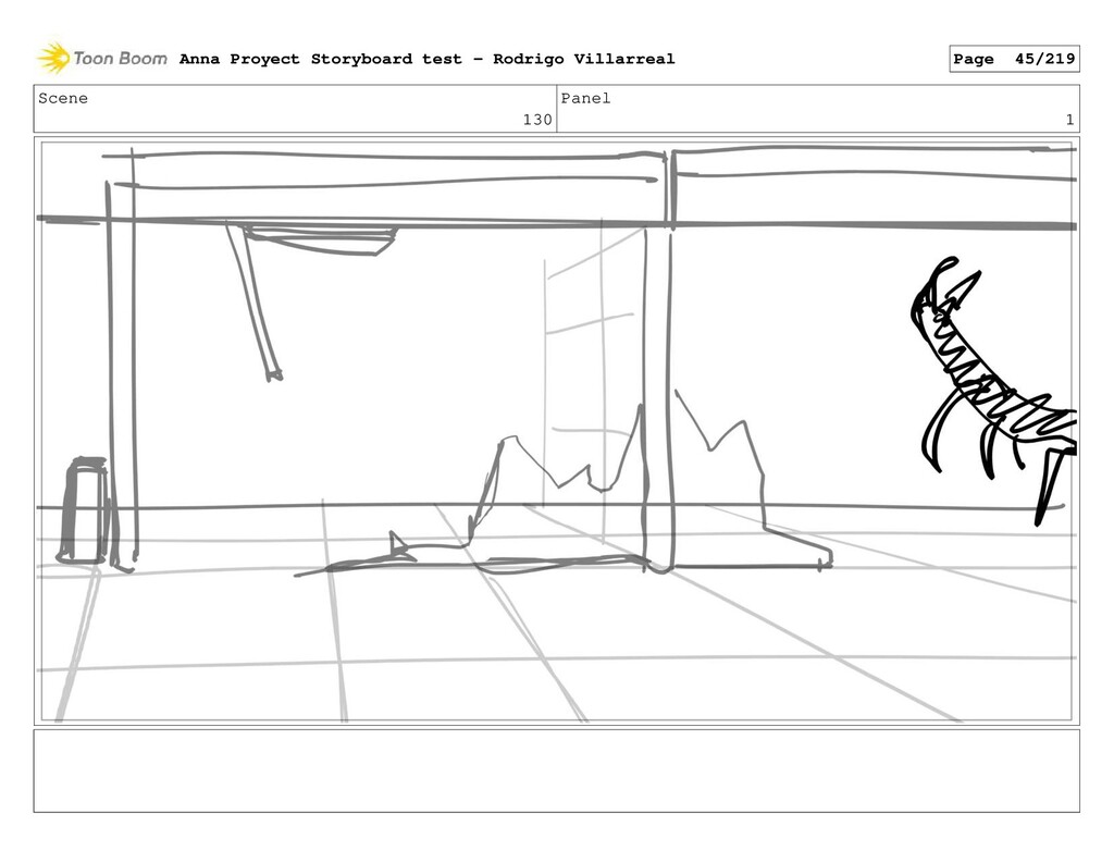 Scene 130 Panel 1 Anna Proyect Storyboard test ...