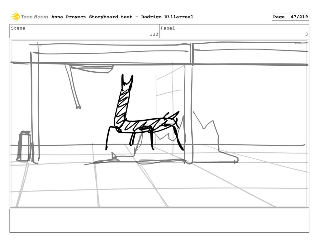 Scene 130 Panel 3 Anna Proyect Storyboard test ...