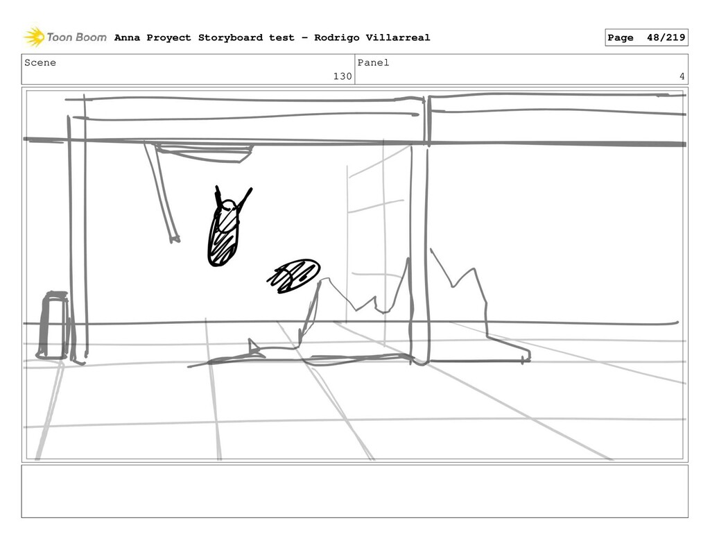 Scene 130 Panel 4 Anna Proyect Storyboard test ...