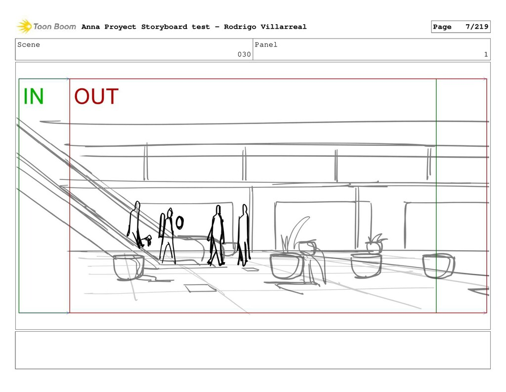 Scene 030 Panel 1 Anna Proyect Storyboard test ...