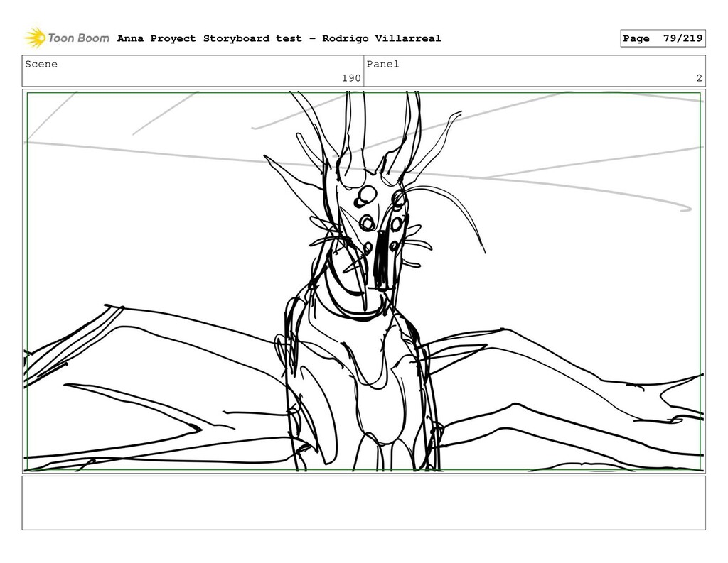 Scene 190 Panel 2 Anna Proyect Storyboard test ...