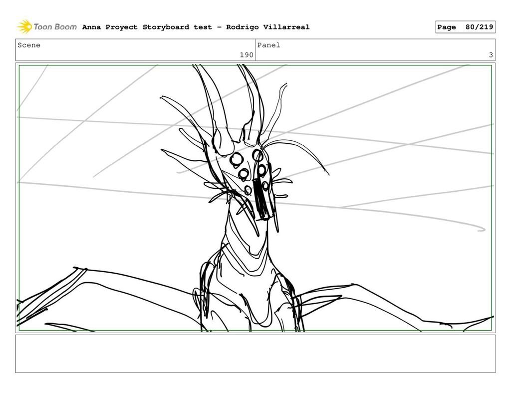 Scene 190 Panel 3 Anna Proyect Storyboard test ...