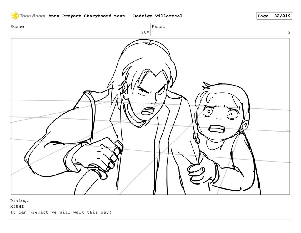 Scene 200 Panel 2 Diálogo KISHI It can predict ...