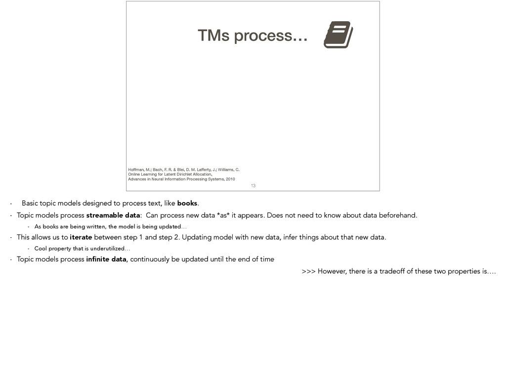 13 TMs process… , Hoffman, M.; Bach, F. R. & Bl...