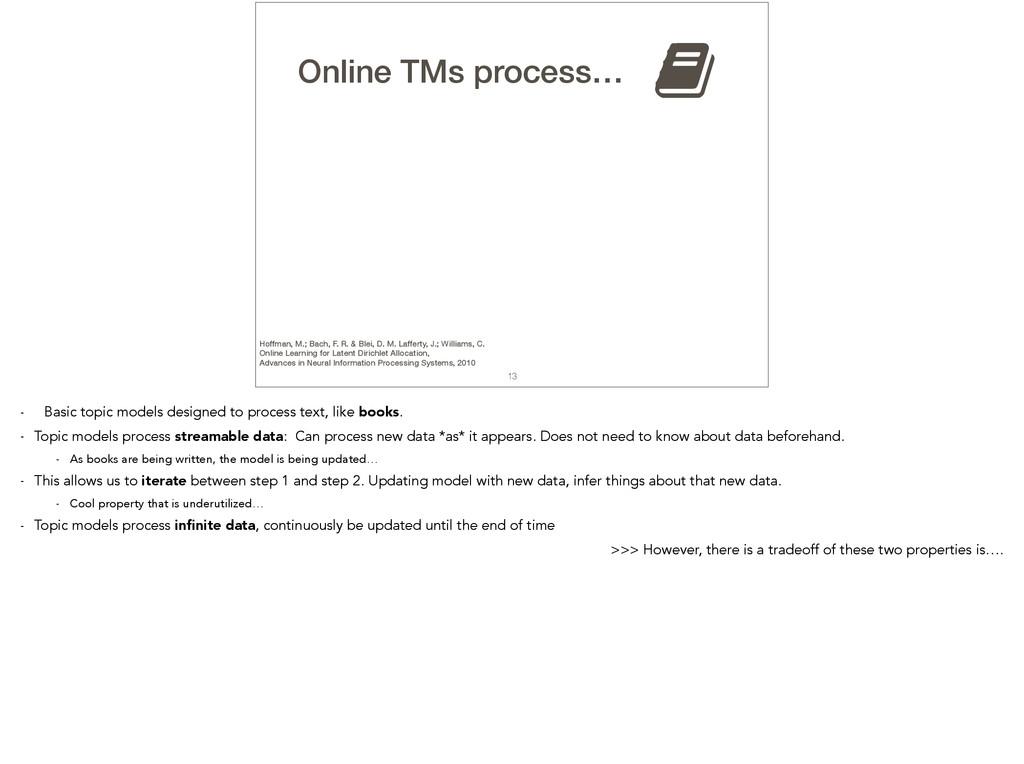 13 TMs process… , Online Hoffman, M.; Bach, F. ...