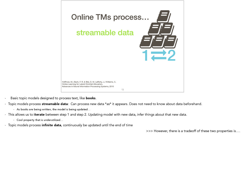 , 13 TMs process… streamable data , , , , , 1 2...