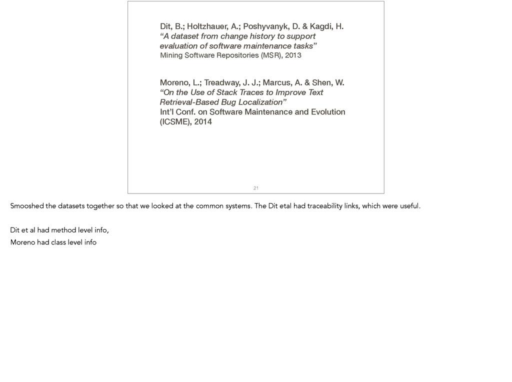 21 Dit, B.; Holtzhauer, A.; Poshyvanyk, D. & Ka...