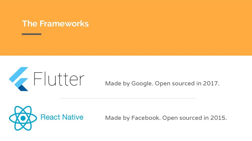 The Frameworks Made by Google. Open sourced in ...