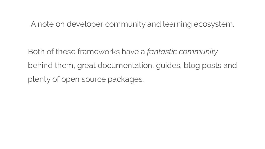 A note on developer community and learning ecos...