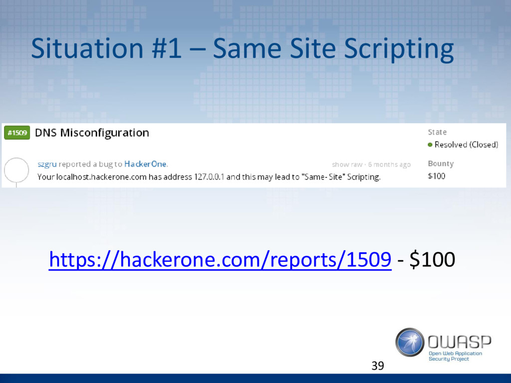 Situation #1 – Same Site Scripting 39 https://h...