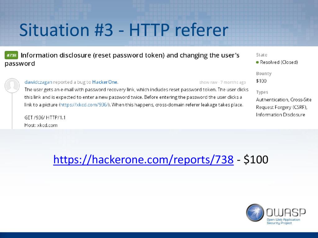 Situation #3 - HTTP referer https://hackerone.c...