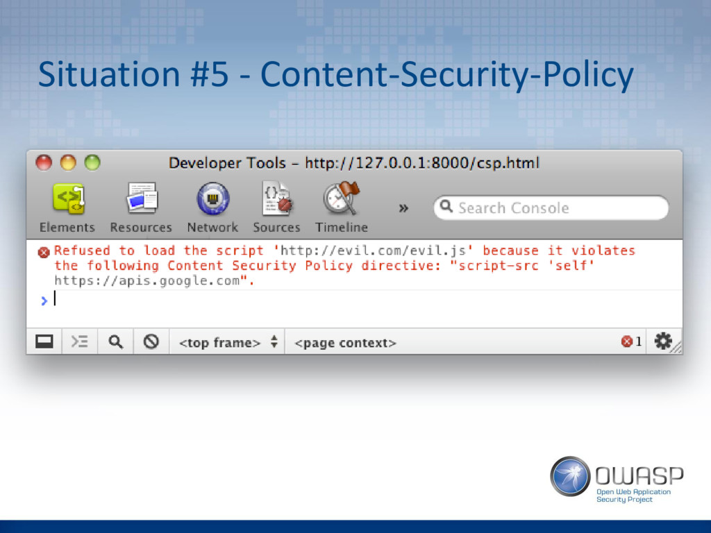 Situation #5 - Content-Security-Policy