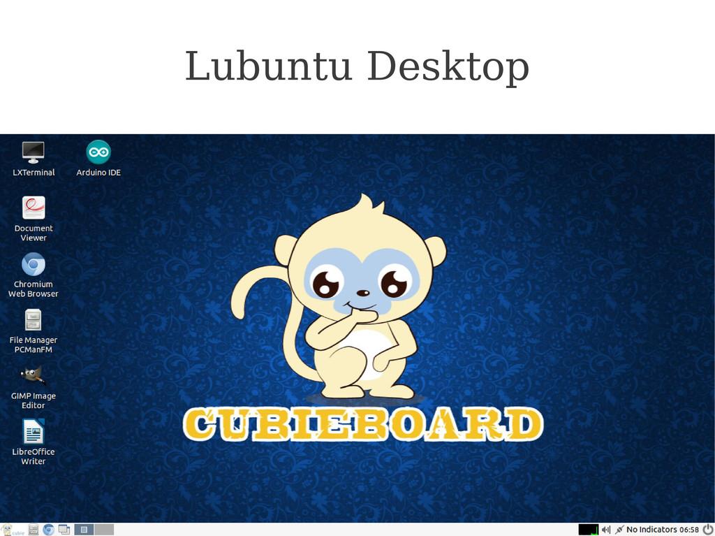 Cubieboard.org Lubuntu Desktop