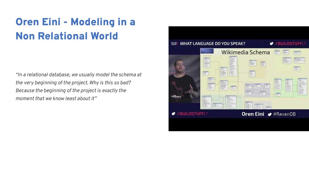 """""""In a relational database, we usually model the..."""