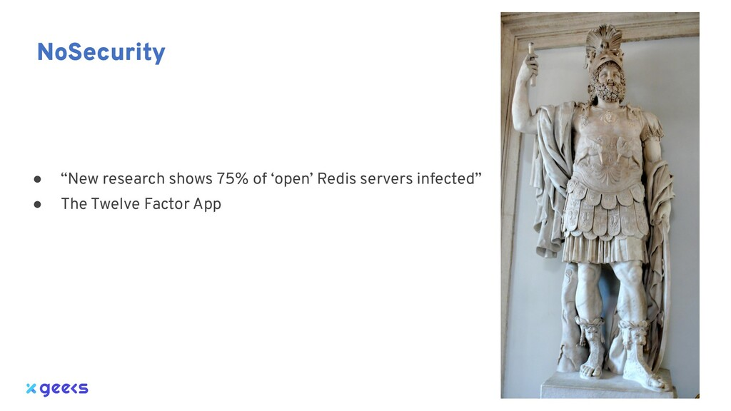 """● """"New research shows 75% of 'open' Redis serve..."""