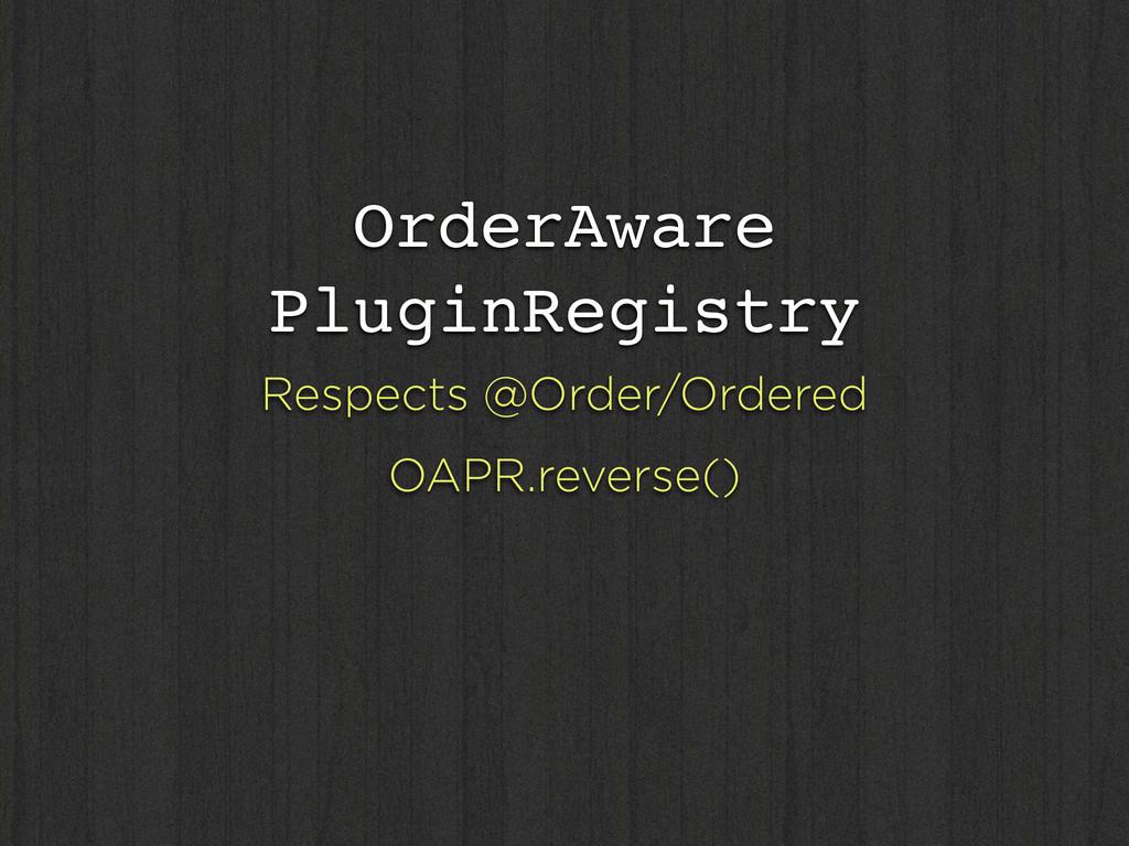 OrderAware PluginRegistry Respects @Order/Order...