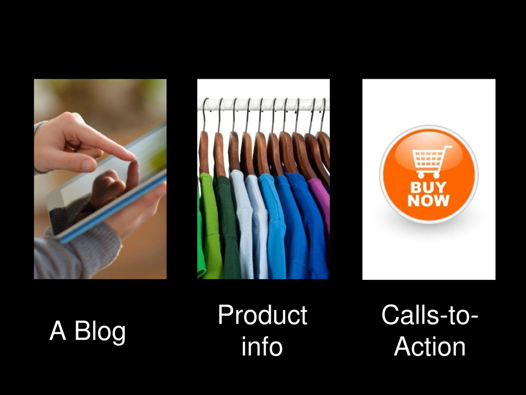 A Blog Product info Calls-to- Action