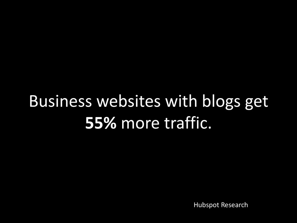 Business websites with blogs get 55% more traff...