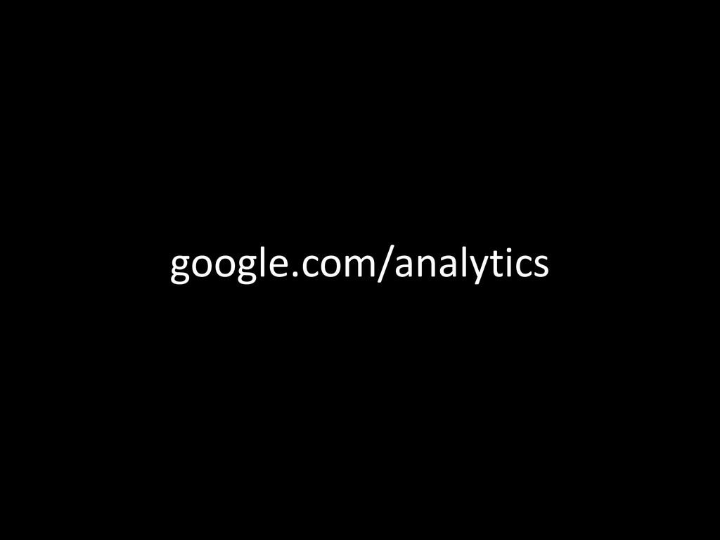 google.com/analytics