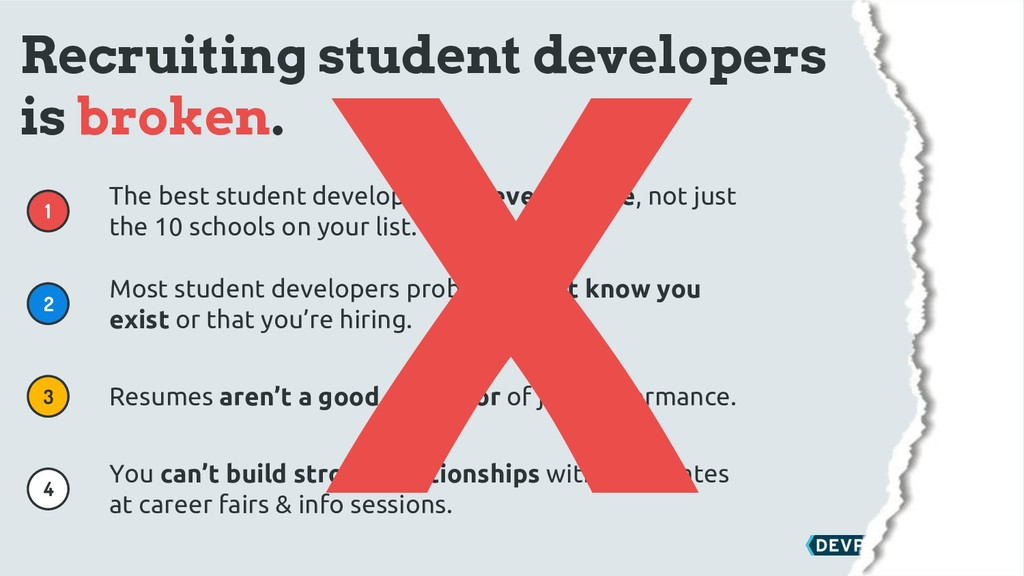 & 1 2 3 4 Recruiting student developers is brok...