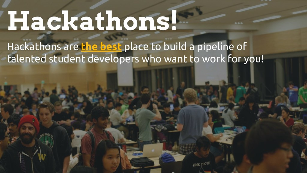 & [HACKATHONS] Hackathons! Hackathons are the b...
