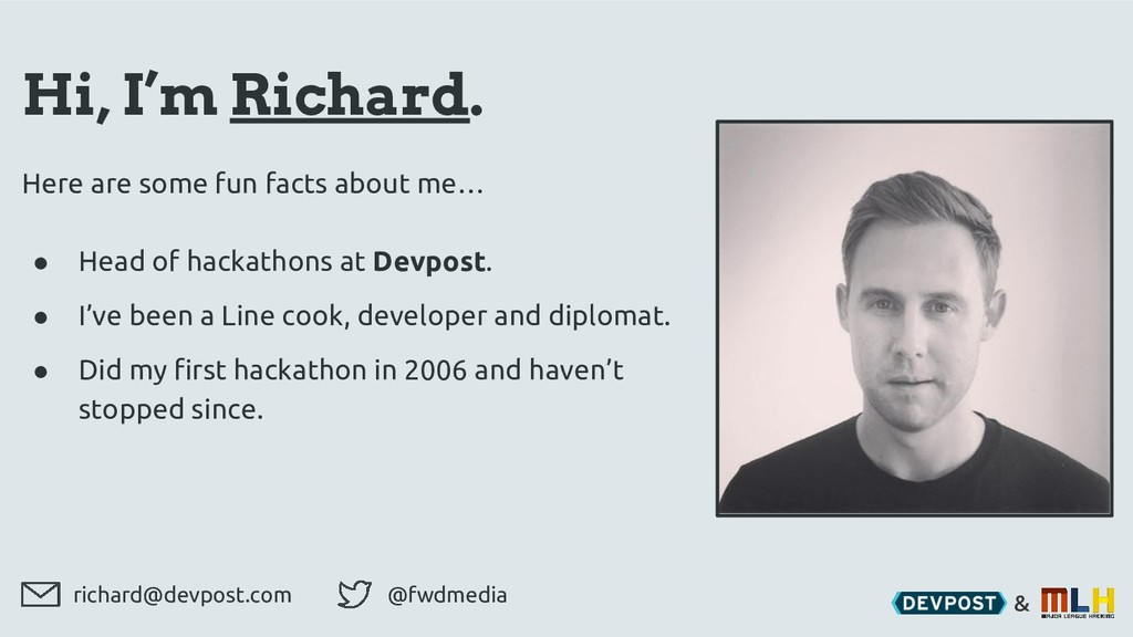 & Hi, I'm Richard. Here are some fun facts abou...