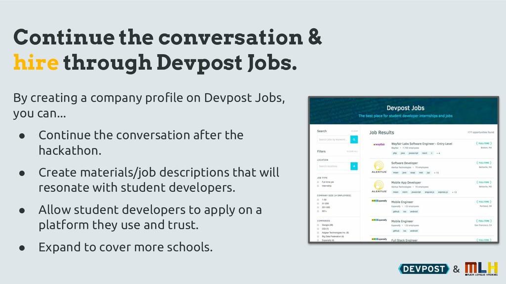 & Continue the conversation & hire through Devp...
