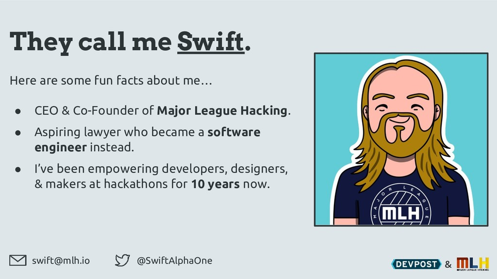 & They call me Swift. Here are some fun facts a...