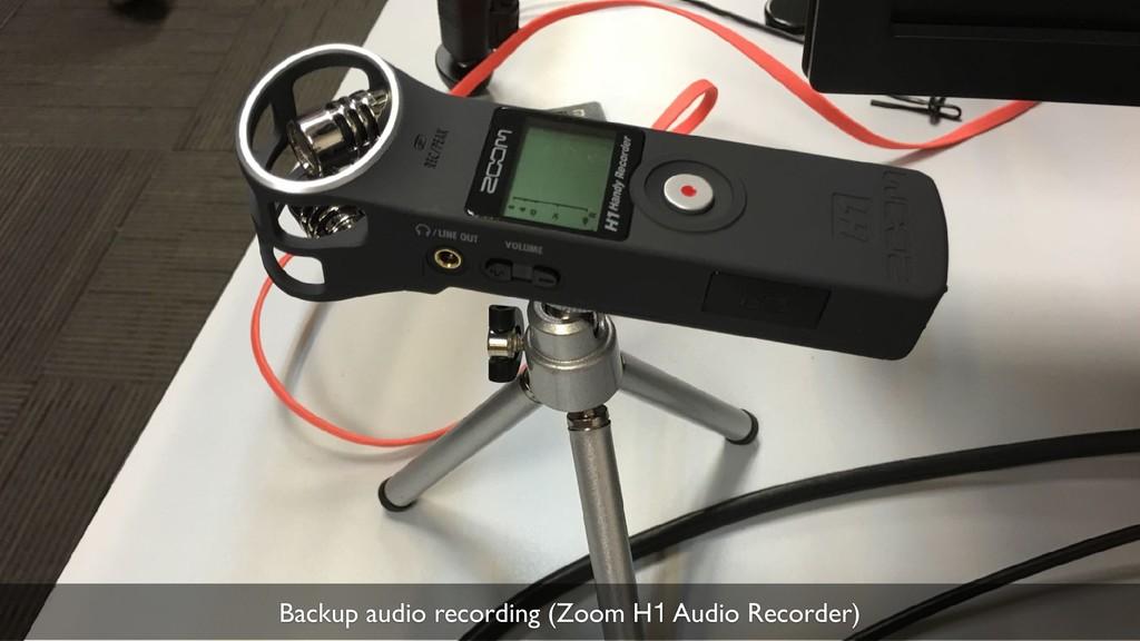 33 Backup audio recording (Zoom H1 Audio Record...