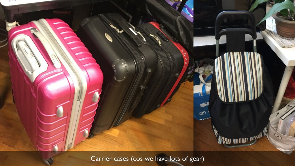 34 Carrier cases (cos we have lots of gear)