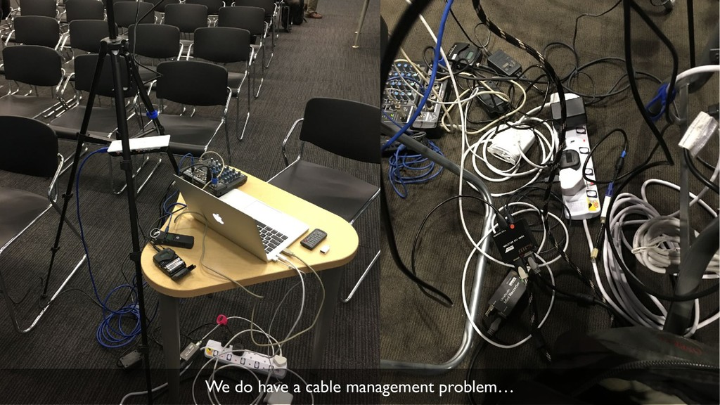 35 We do have a cable management problem…