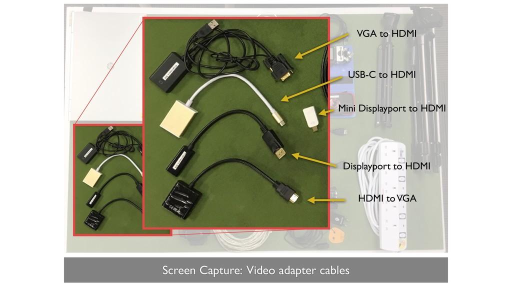 Screen Capture: Video adapter cables Mini Displ...