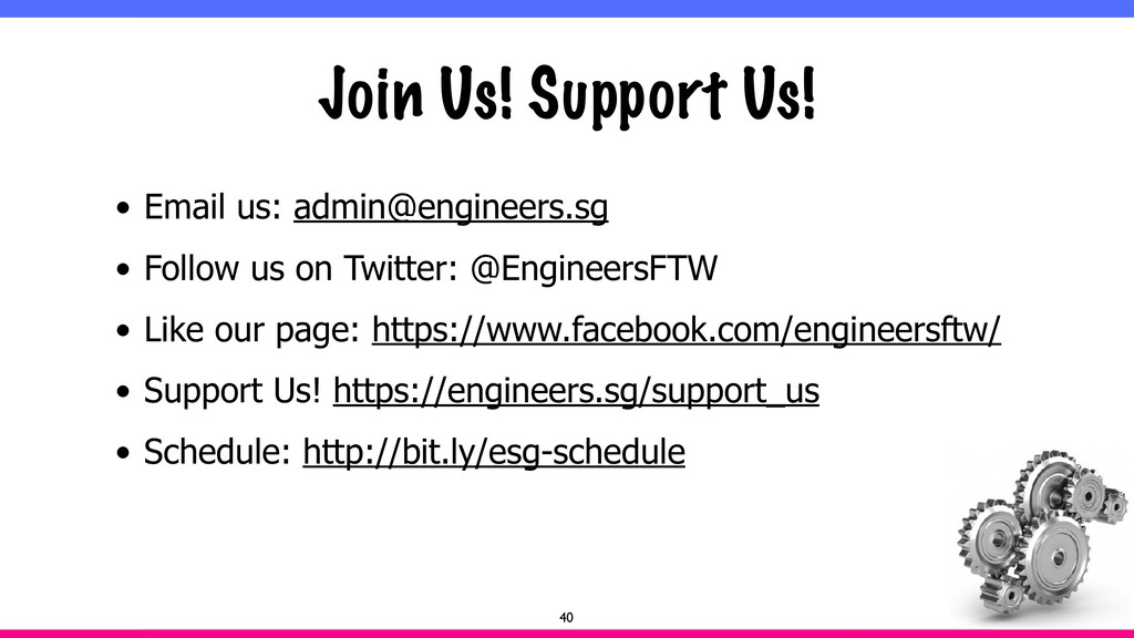 Join Us! Support Us! • Email us: admin@engineer...