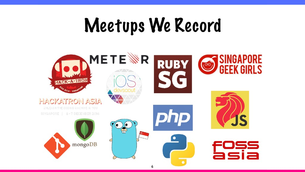 Meetups We Record 6